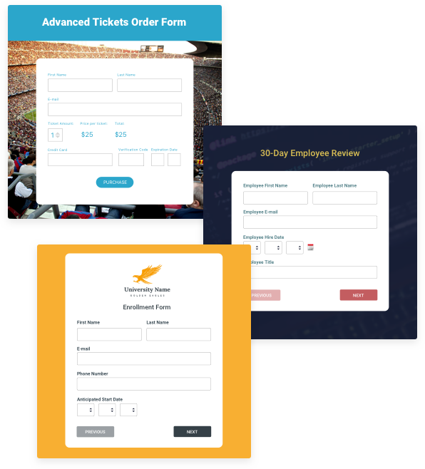 Browse over a hundred online form templates